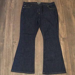 Boden flare dark wash jeans